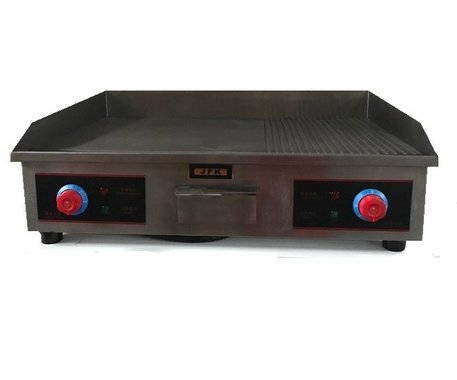 Професионална електрическа скара JFK Electric Griddle Grill JB-PL822 1/3 оребрена 2/3 плоча грил