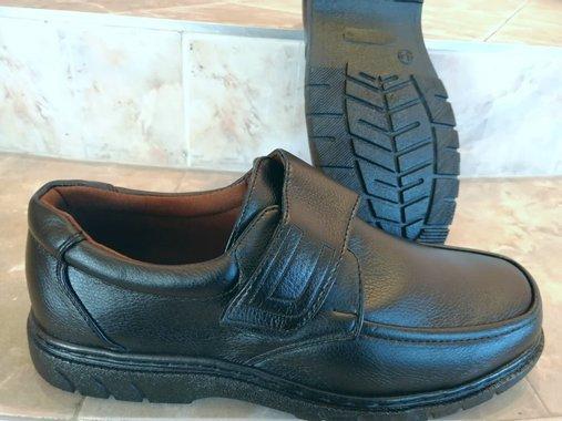 Мъжки обувки в черно с лепенка велкро