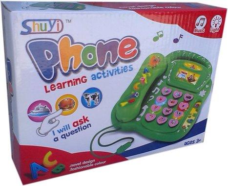 Детска играчка Занимателен музикален телефон със звук и светлина