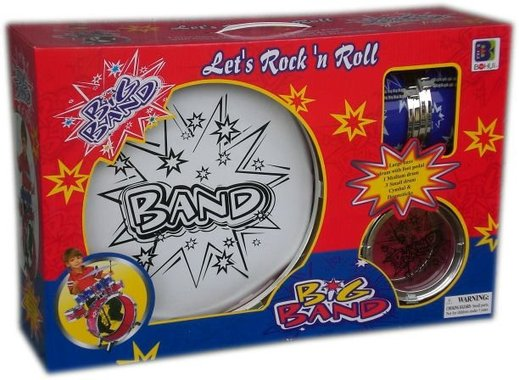 Детска играчка комплект Голям Барабан в подаръчна опаковка