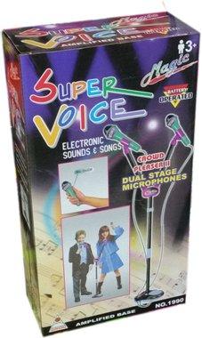 Детска играчка - Микрофони на стойка. Подготви се за надпреварата Като две капки вода!