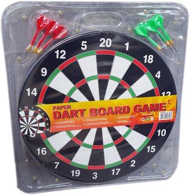 Детски комплект Дартс 42 см. голям комплект със 6 стрели.