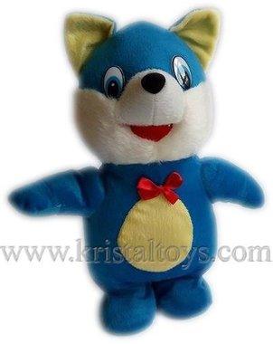 Детска плюшена интерактивна играчка Котка - синя.