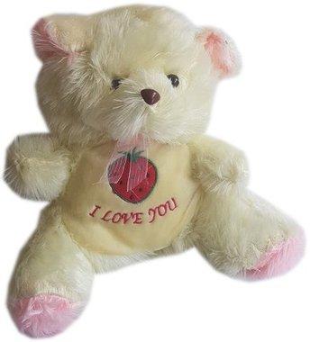 Детска плюшена играчка Мече с надпис Обичам те I Love You - два цвята