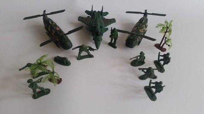 Детски Военен комплект самолети и вертолети Комбат Combat