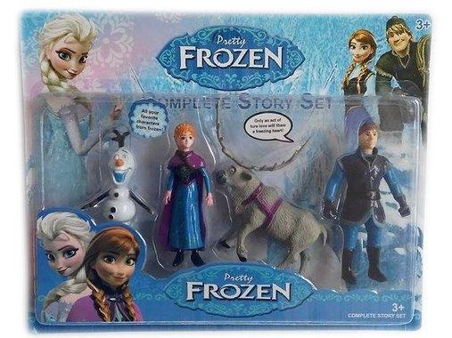 Герои Замръзналото кралство Детски комплект фигури - Анна, Кристоф, Свен и Олаф  Фрозен Frozen