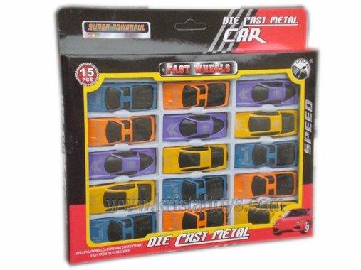 Комплект Метална кола Мач Бокс Super powerful 15 pcs.