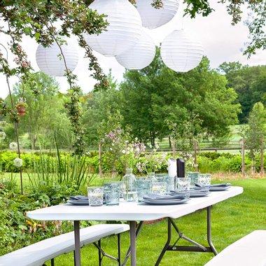 Маса с 2 пейки Vanage Garden VG-9757 кетъринг маса пейка градински мебели къмпинг сгъваеми