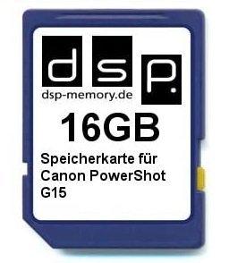 Карта памет DSP Memory 16 GB Class 10 за фотоапарат Canon PowerShot G15