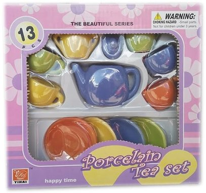 Детски комплект Порцеланов сервиз за чай за кукли 13 части
