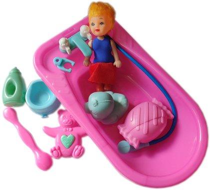 Детска играчка Kукла Грейди с вана и различни аксесоари