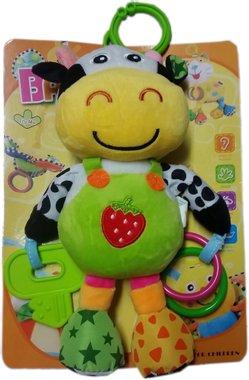 Плюшена музикална играчка за кошара или количка с форма на весело животно