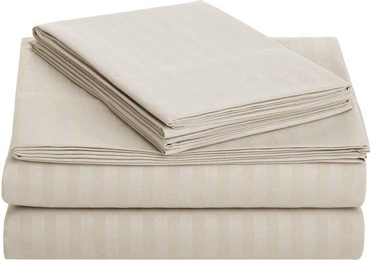 Спален комплект AmazonBasics Twin XL чаршаф калъфка кувертюра за единично легло