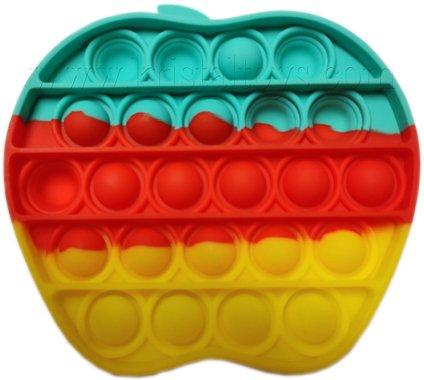 Антистрес детска играчка Фиджет Попит FIDGET POP IT с форма на ябълка, многоцветна.