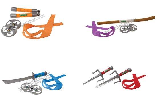 Детска играчка Боен комплект оръжие на Костенурките Нинджа с маска