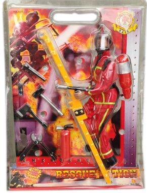 Детска играчка Комплект Пожарникар с аксесоари