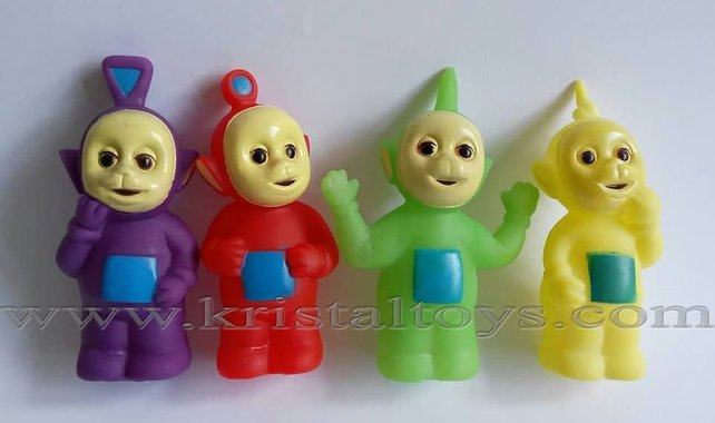 Комплект четири броя гумени играчки Телетъбис Teletubbies