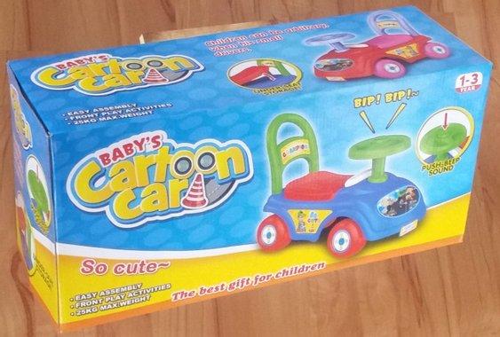 Детска кола за возене, яздене и бутане с крака Ride on