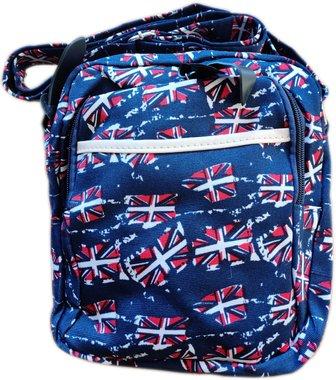 Чанта за рамо с два ципа и с дълга дръжка Знаме UK