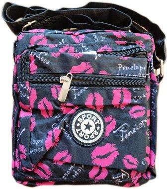 Чанта за рамо с четири ципа и с дълга дръжка Целувка