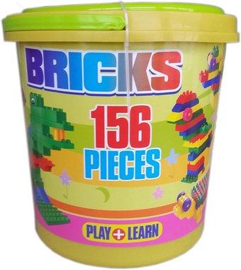 Детска играчка Конструктор в кофа 156 части