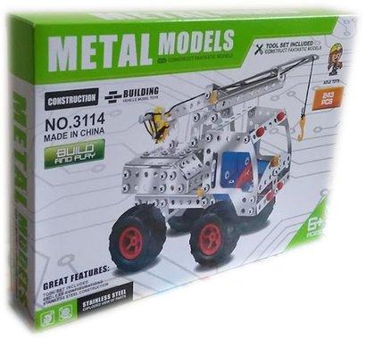 Детска играчка Конструктор за игра с 243 броя метални части