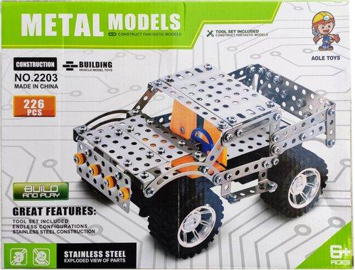 Детска играчка Конструктор за игра с 226 броя метални части