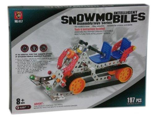 Детски конструктор с метални части Снегомобил
