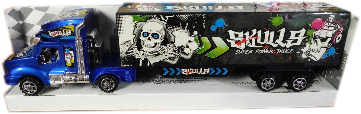 Детска играчка Камион тир със затворено ремарке в подаръчна опаковка