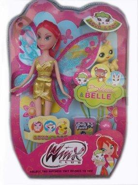 Кукла Уинкс с червена коса и с домашен любимец Winx