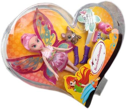 Кукла Вълшебница Уинкс с розова коса и с домашен любимец и аксесоари