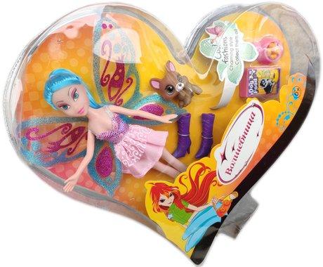 Кукла Вълшебница Уинкс със синя коса и с домашен любимец и аксесоари