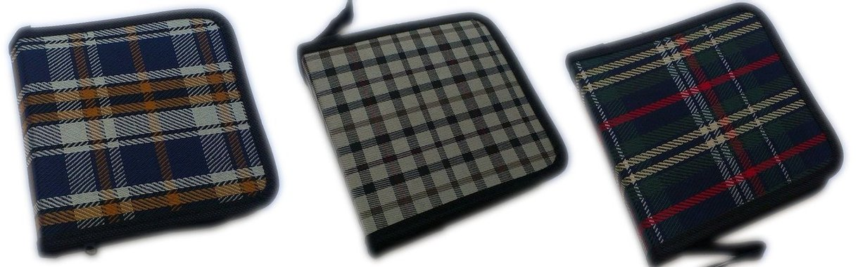 Промоция за 3 броя - Платнен несесер за съхранение на компютърни дискове СД с цип, CD - CD Holder