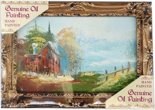 Подходящ подарък - Маслена картина ръчно рисувана с красив изглед