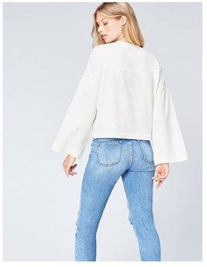 Дамска блуза Amazon Brand Find Women's Boxy Trumpet ER2471 широк ръкав ежедневна елегантна широка блуза