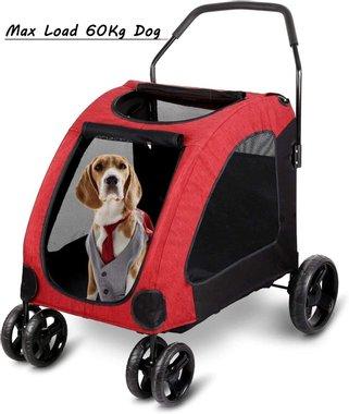 Транспортна количка за домашен любимец Amzdeal Pet Stroller Ремарке транспортна количка за кучета котки