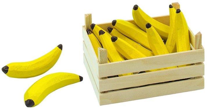 Детска дървена играчка щайга с банани Goki Bananas Fruit Crate Toy 51670