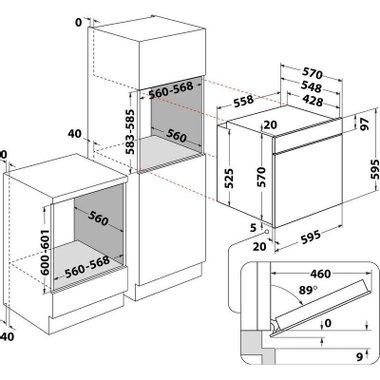 Вградена фурна Hotpoint-Ariston FA4S841J IX HA . , 71 L , Push бутони , А