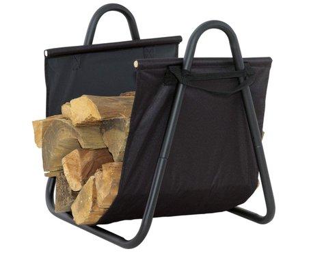 Кош за дърва с черен плат EDG160B