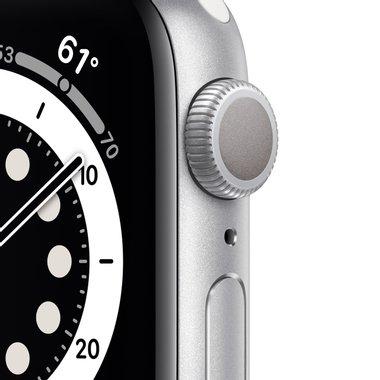 Смарт часовник Apple Watch 6 40mm Silver/White