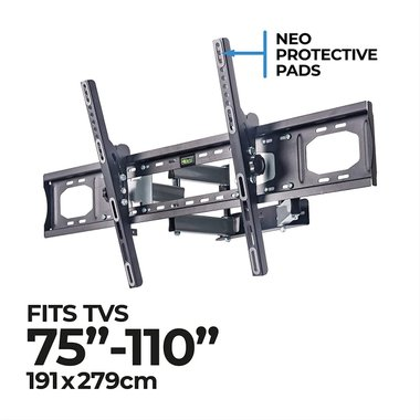 """Универсална стойка за телевизор Amazon Basics LN2RFM800-ZD 75-110"""" инча Стенна стойка Регулируема"""