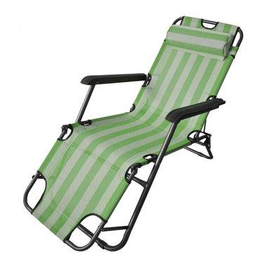 Сгъваем къмпинг стол 125х60х78, зелен