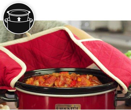 Уред за бавно готвене Crockpot SCV400RD Slow Cooker 3.5л здравословно готвене