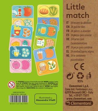 Детски образователен пъзел Clementoni Little Match 16249 6 броя карти с 24 мини пъзели