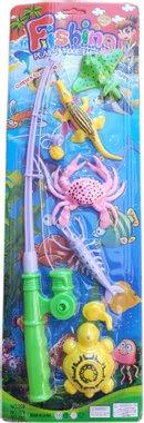 Детска играчка комплект Въдица с риби 7 части