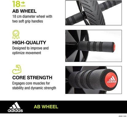 Колело за коремни преси Adidas AB Wheel Unisex уред за тренировки фитнес уред