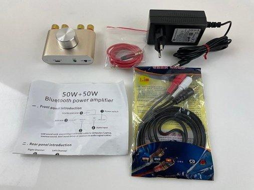 Мини усилвател Power Amplifier F900 12V 5A DC9V-24V AUX / USB / Bluetooth 2x50W
