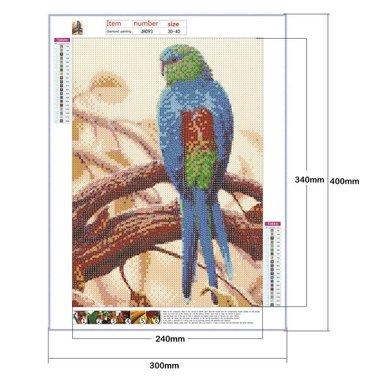 Диамантен гоблен Папагал J Tohlo 5D JH093 картина мозайка