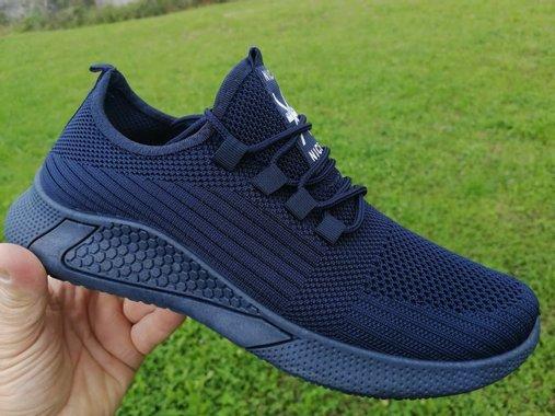 Тъмно сини маратонки с меко гумено ходило и дишаща материя
