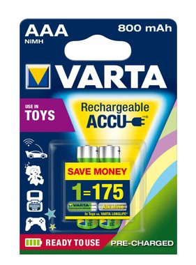 Акумулаторни батерии Varta 800mAh ААА 2бр